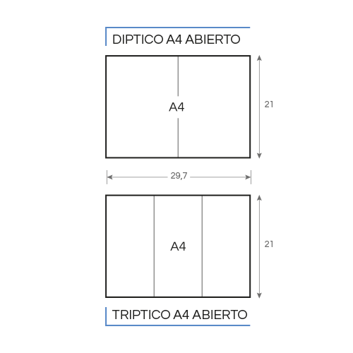 dípticos-trípticos gráfico