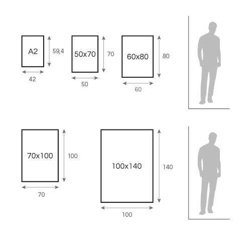 postes adhesivos grafico
