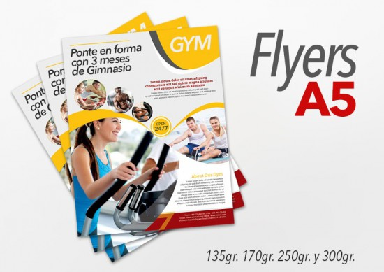 Flyers color 15x21cm 1500 Unidades 2 caras 250gr