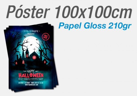 Posters Papel Gloss 200gr 100x100cm