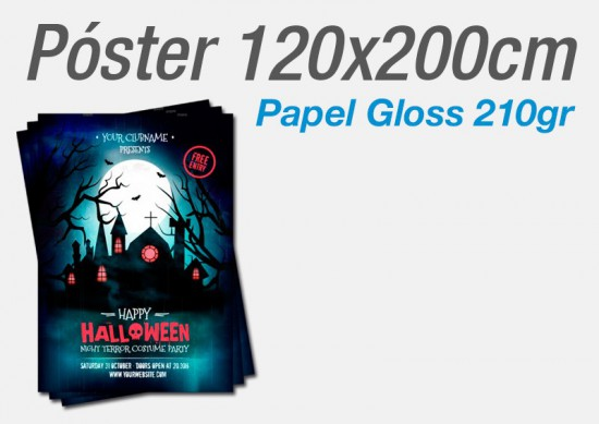 Posters Papel Gloss 200gr 120x200cm